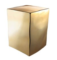 Side table / contemporary / metal / cube