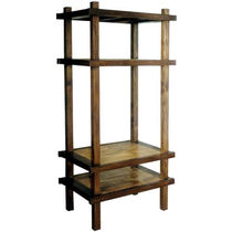Contemporary shelf / teak / mahogany / for TV