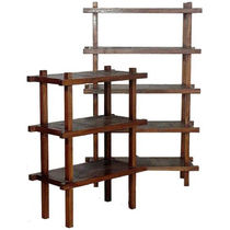 Contemporary shelf / teak / mahogany