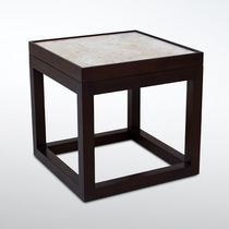 Contemporary side table / wooden / rectangular