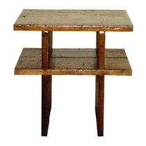 Contemporary side table / teak / mahogany / rectangular