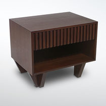 Contemporary bedside table / wooden / rectangular