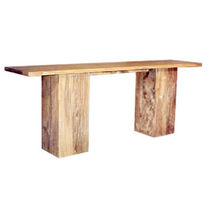 Contemporary sideboard table / teak / mahogany / rectangular
