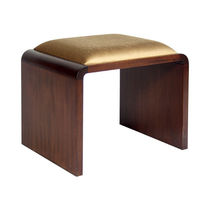 Contemporary stool / wooden / fabric / upholstered