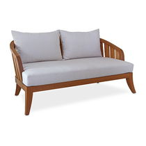 Contemporary sofa / garden / wooden / 2-seater