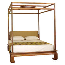 Canopy bed / double / traditional / with upholstered headboard
