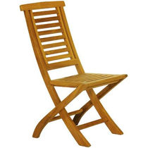 Traditional garden chair / folding / walnut