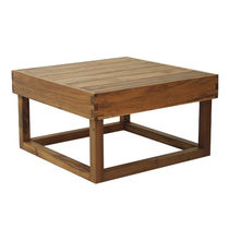 Contemporary coffee table / wooden / square / garden