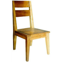 Contemporary garden chair / wooden