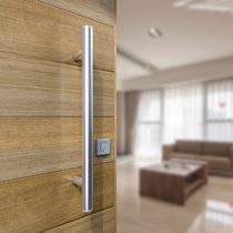 Stainless steel pull handle / modern / satin finish
