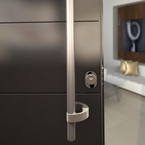 Door pull handle / stainless steel / contemporary / satin finish