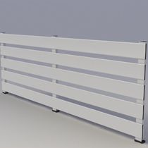 Garden fence / louvered / aluminum
