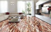 Indoor tile / floor / marble / geometric pattern