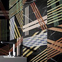 Bathroom tile / floor / marble / multi-color