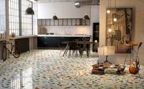 Floor tile / marble / geometric pattern / multi-color