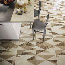 Floor tile / marble / geometric pattern / multi-color