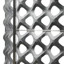 Decorative panel / for interior fittings / for partition walls / metal