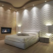 Wall tile / marble / natural stone / wave pattern