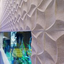 Decorative panel / for interior fittings / wall-mounted / natural stone