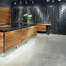 Natural stone wall cladding / marble / interior / 3D