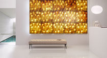 Wall-mounted decorative panel / marble / 3D / with indirect lighting
