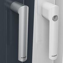 Window handle / aluminum / contemporary / with lock