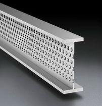 Steel profile / stainless steel / U-shaped / T