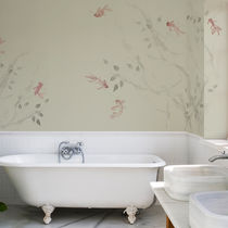 Traditional wallpaper / cotton / animal motif / hand-painted