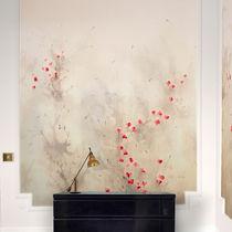 Traditional wallpaper / cotton / nature pattern / animal motif