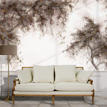 Traditional wallpaper / cotton / nature pattern / hand-painted