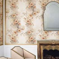 Traditional wallpaper / cotton / floral pattern / hand-painted