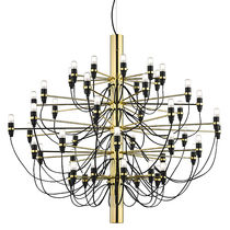 Contemporary chandelier / brass / steel