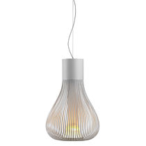 Pendant lamp / contemporary / glass / aluminum