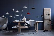Coffee table / contemporary / steel / walnut
