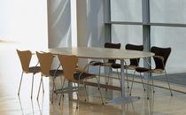 Boardroom table / contemporary / aluminum / walnut