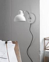Bauhaus design wall light / brass / steel / articulated arm