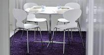 Contemporary table / laminate / linoleum / aluminum
