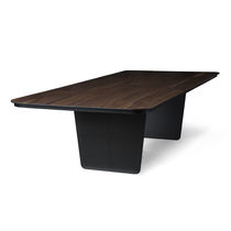Contemporary table / walnut / carbon fiber / rectangular