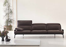 Contemporary sofa / leather / wooden / by Rodolfo Dordoni