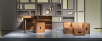 Contemporary stool / oak / chestnut / by Le Corbusier