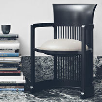 Art Deco armchair / walnut / cherrywood / plastic