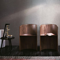 Contemporary chair / molded plywood / American walnut / by Konstantin Grcic