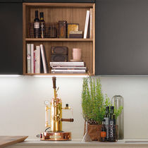 Wall-mounted shelf / contemporary / wooden / kitchen