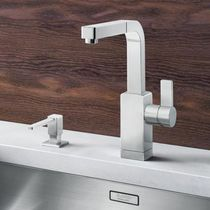 Chromed metal mixer tap / stainless steel / kitchen / 1-hole