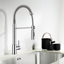 Metal mixer tap / kitchen / 1-hole / commercial