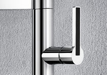 Chromed metal mixer tap / steel / kitchen / 1-hole