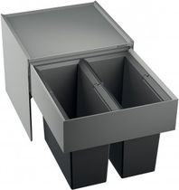 Kitchen trash can / built-in / steel / contemporary