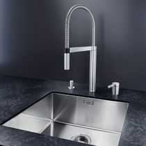 Chromed metal mixer tap / kitchen / 2-hole