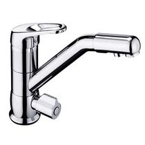 Chromed metal mixer tap / kitchen / 1-hole