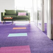 Carpet tile / tufted / polyamide / velvet